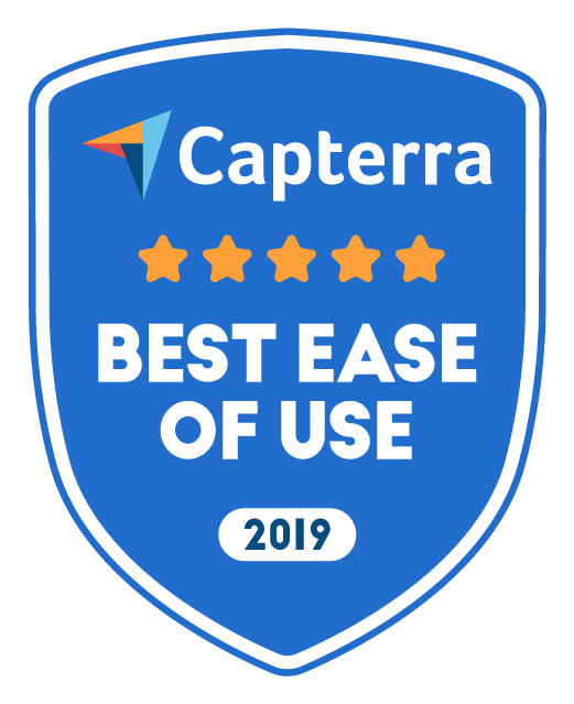 Capterra Best Ease of Use 2019 Award